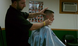 Kyle giving a precision haircut